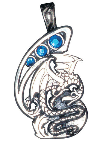 (Product Code: FI53) Dragon, for Wealth and Knowledge, Fire and Ice - EnchantedJewelry