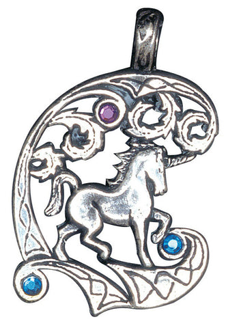 FI54 - Unicorn, for Protection and Healing (Fire & Ice) at Enchanted Jewelry & Gifts