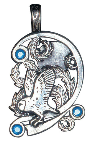 FI55 - Owl, for Wisdom and Psychic Ability (Fire & Ice) at Enchanted Jewelry & Gifts
