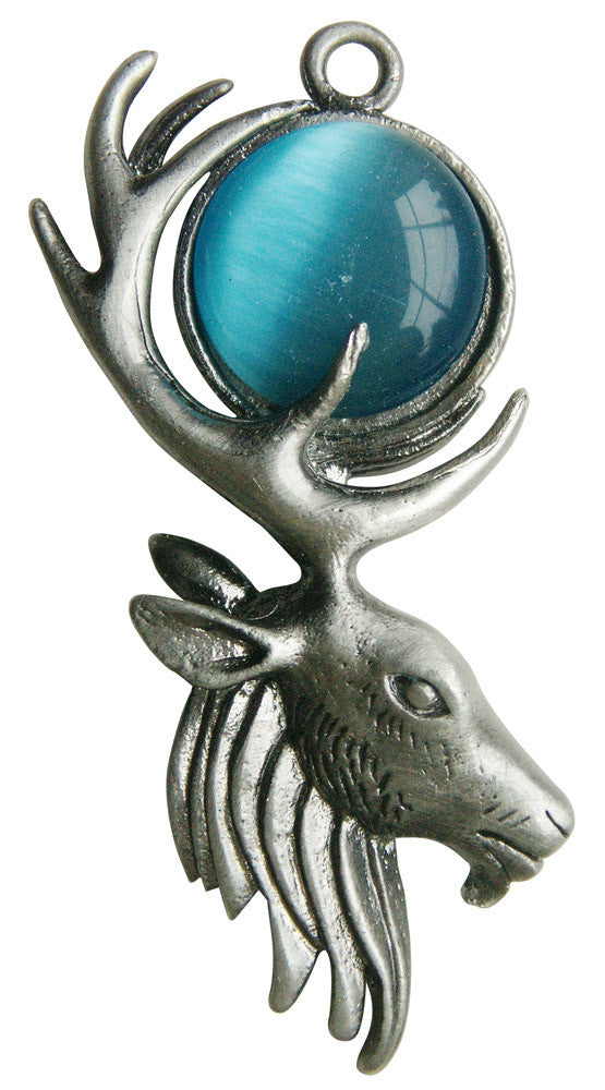 (Product Code: GW01) Moon Stag for Mystical Power, Greenwood Charms - EnchantedJewelry