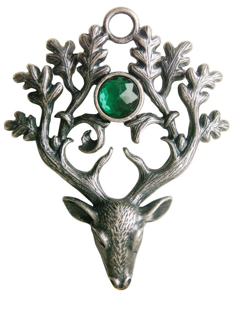 (Product Code: GW08) The Stag Lord for Protection & Defense, Greenwood Charms - EnchantedJewelry