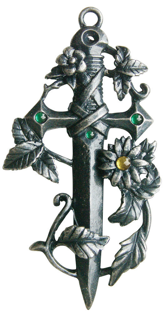 GW14-Sword in the Green for Magical Protection (Greenwood Charms) at Enchanted Jewelry & Gifts