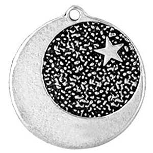 (Product Code: HAM18) Star-Dogged Moon, Amulets of the World Carded - EnchantedJewelry