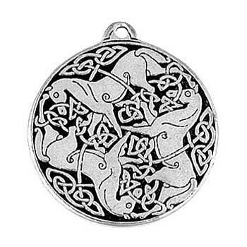 (Product Code: HAM23) Celtic Horses, Amulets of the World Carded - EnchantedJewelry