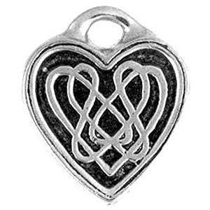 (Product Code: HCK03) Celtic Knot Heart, Celtic Knots Carded - EnchantedJewelry