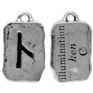(Product Code: HRP06) Ken - Illumination, Rune Pendants Carded - EnchantedJewelry