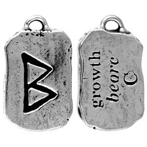(Product Code: HRP18) Beorc - Growth, Rune Pendants Carded - EnchantedJewelry