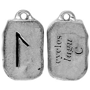 HRP21-Lagu - Cycles-Rune Pendants Carded-Enchanted Jewelry & Gifts