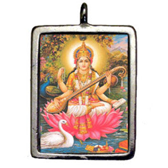 HSD17-Saraswati (Hindu Sacred Deities Carded) at Enchanted Jewelry & Gifts