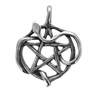 (Product Code: HWP08) Snake Pentacle, Wicca Practical Magick Carded - EnchantedJewelry