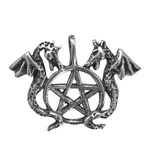 HWP10-Dragon's Pentagram-Wicca Practical Magick Carded-Enchanted Jewelry & Gifts