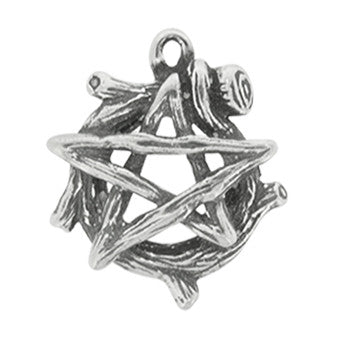 HWP69 - Wood Pentagram (Wicca Practical Magick Carded) at Enchanted Jewelry & Gifts