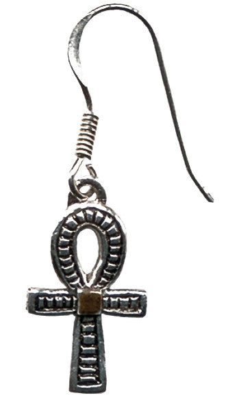 JA6-Ankh Earrings for Health, Prosperity, & Long Life (Jewels of Atum Ra) at Enchanted Jewelry & Gifts