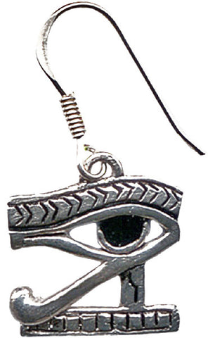 JA7-Eye of Horus Earrings for Health, Strength, and Protection (Jewels of Atum Ra) at Enchanted Jewelry & Gifts