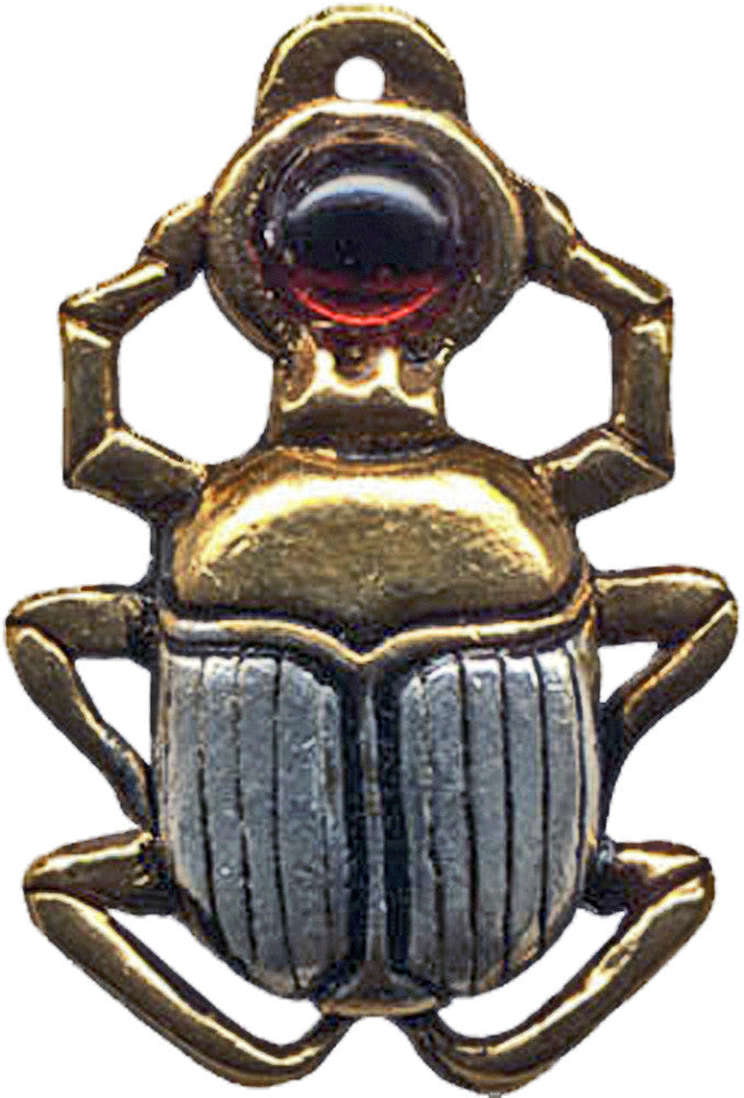 JA12-Scarab Amulet for Courage & Protection (Jewels of Atum Ra) at Enchanted Jewelry & Gifts
