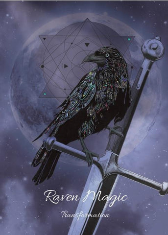 rKA1-Raven Magic Card for Transformation (Karin Roberts Cards) at Enchanted Jewelry & Gifts