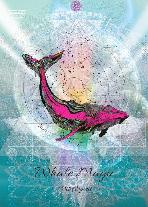 rKA2-Whale Magic Card for Wild Spirit (Karin Roberts Cards) at Enchanted Jewelry & Gifts