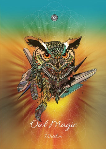 rKA3-Owl Magic Card for Wisdom-Karin Roberts Cards-Enchanted Jewelry & Gifts