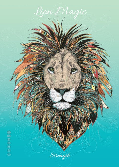 rKA4-Lion Magic Card for Strength (Karin Roberts Cards) at Enchanted Jewelry & Gifts