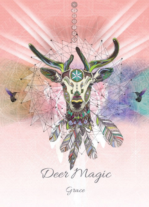 rKA5-Deer Magic Card for Grace-Karin Roberts Cards-Enchanted Jewelry & Gifts