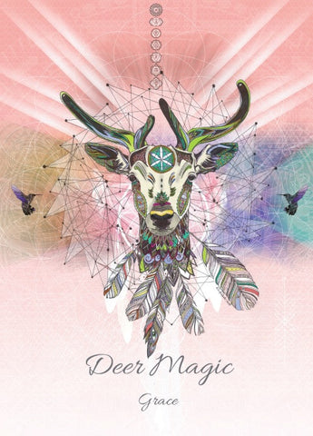 rKA5 - Deer Magic Card for Grace Karin Roberts Cards at Enchanted Jewelry & Gifts