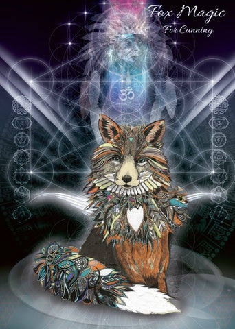rKA6-Fox Magic Card for Cunning (Karin Roberts Cards) at Enchanted Jewelry & Gifts