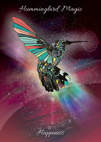 rKA7-Hummingbird Magic Card for Happiness (Karin Roberts Cards) at Enchanted Jewelry & Gifts