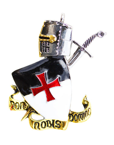 KT02-Non Nobis Domine for Bravery, Chivalry, and Selflessness (Knights Templar) at Enchanted Jewelry & Gifts