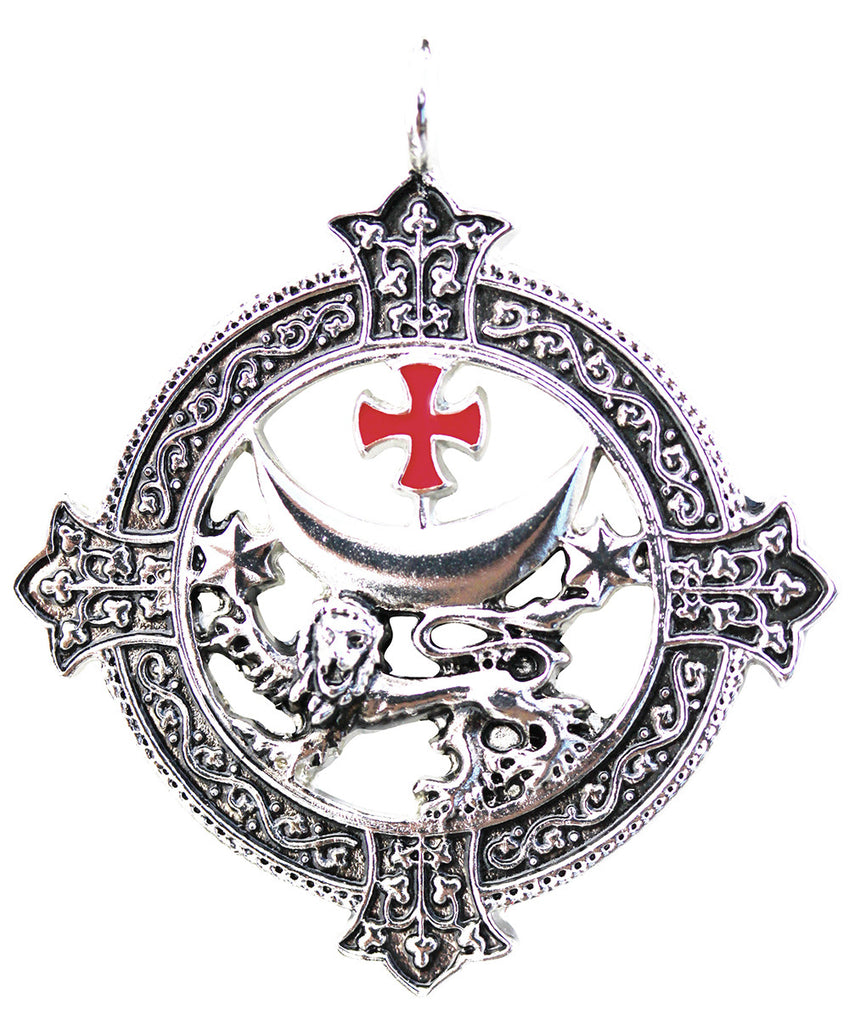 (Product Code: KT03) Templar Lion for Power and Success, Knights Templar - EnchantedJewelry