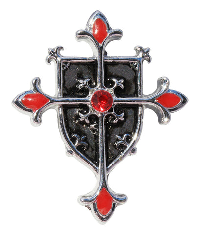 (Product Code: KT04) Shield Cross for Protection from Evil, Knights Templar - EnchantedJewelry