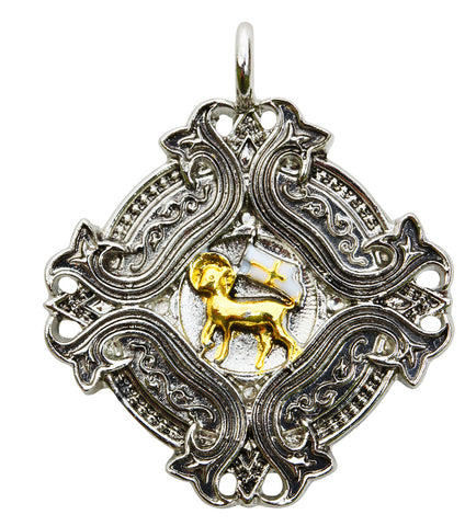 (Product Code: KT08) Agnus Dei for Spiritual Knowledge and Wisdom, Knights Templar - EnchantedJewelry