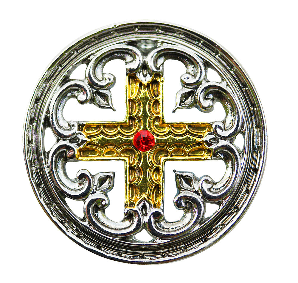 (Product Code: KT11) Engrailed Cross for the Meaning of Life, Knights Templar - EnchantedJewelry