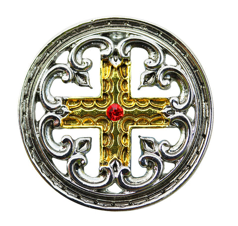 KT11 - Engrailed Cross for the Meaning of Life Knights Templar at Enchanted Jewelry & Gifts