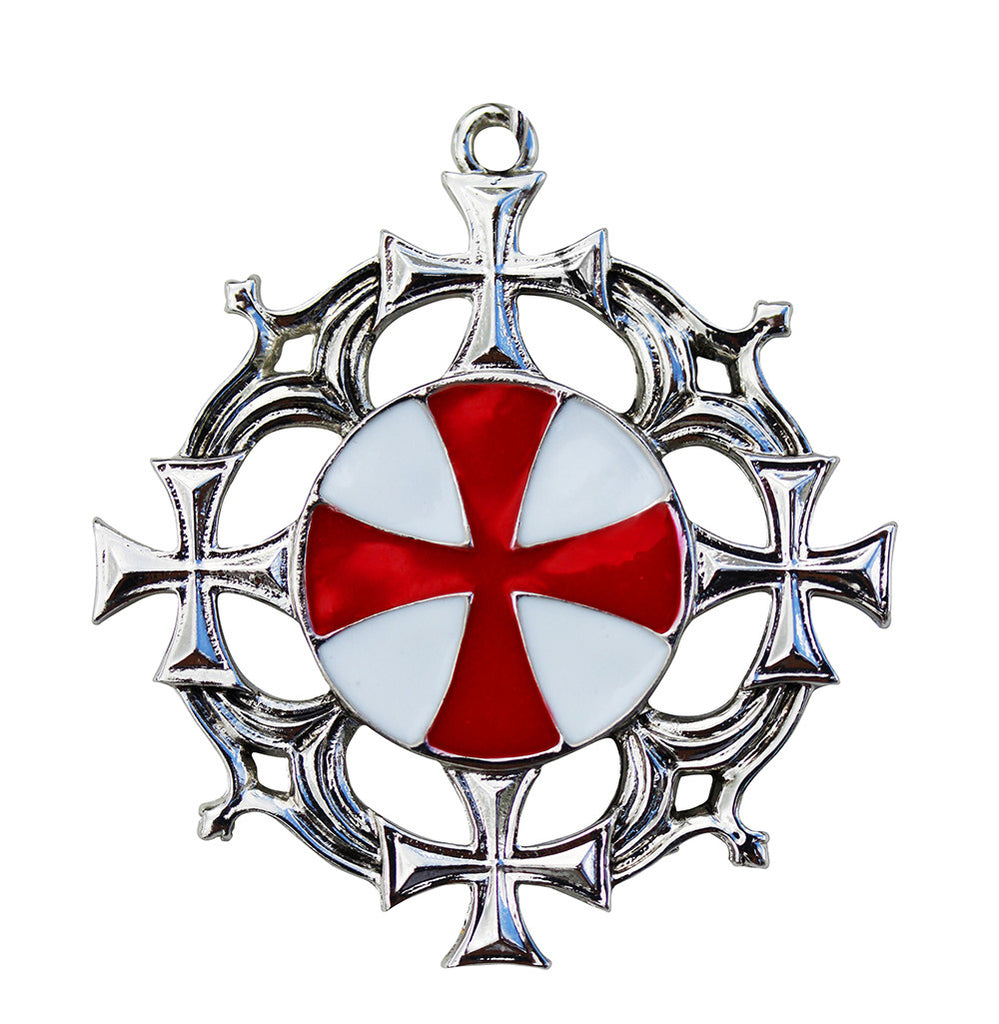 (Product Code: KT12) Solar Cross for Strong Health and Mental Vigour, Knights Templar - EnchantedJewelry