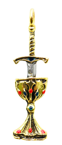 KT14 - Blade and Chalice for Perfect Love and Perfect Trust (Knights Templar) at Enchanted Jewelry & Gifts