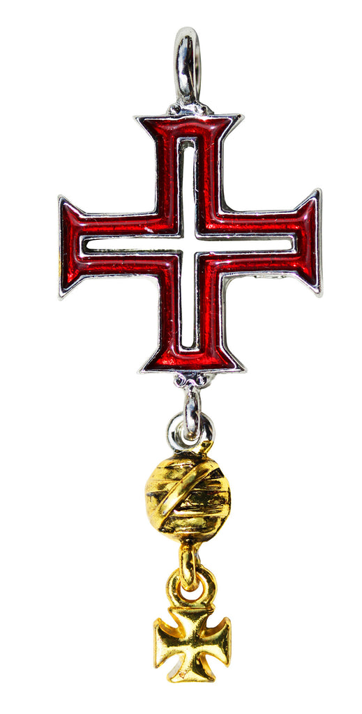 (Product Code: KT16) Tomar Cross for Protection on Life's Journey, Knights Templar - EnchantedJewelry