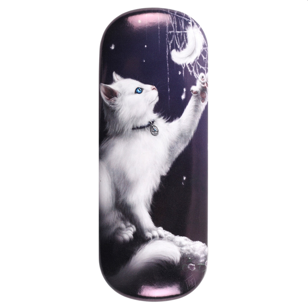 LJ050G-Snow Kitten Eyeglass Case by Linda Jones Eyeglass Cases at Enchanted Jewelry & Gifts