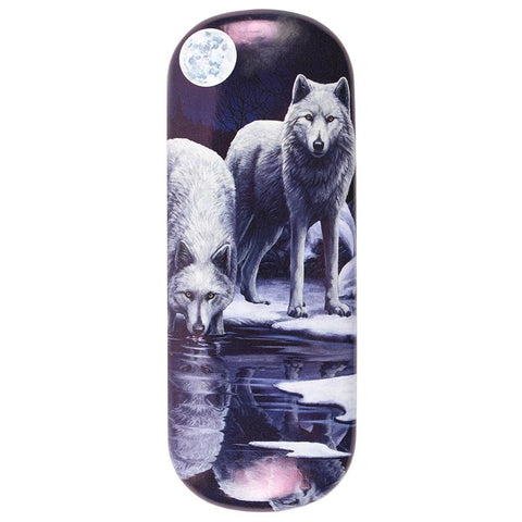 LP307G-Winter Warriors (White Wolves) Eyeglass Case by Lisa Parker Eyeglass Cases at Enchanted Jewelry & Gifts