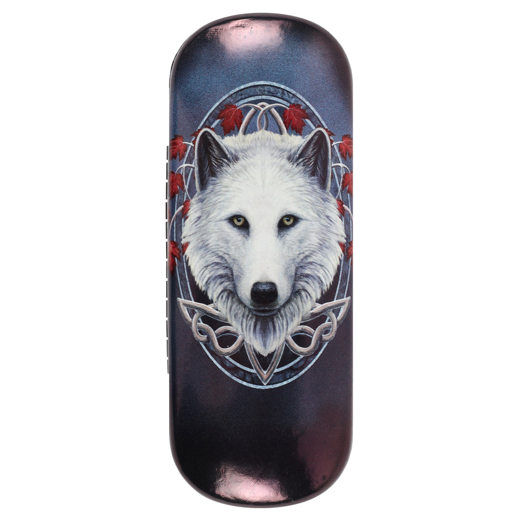 LP469G-Guardian of the Fall (White Wolf) Eyeglass Case by Lisa Parker Eyeglass Cases at Enchanted Jewelry & Gifts