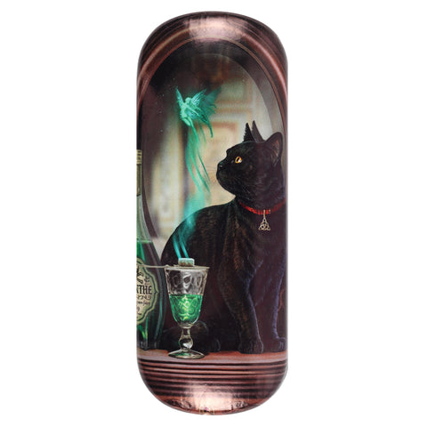 LP472G-Absinthe (Black Cat Green Fairy) Eyeglass Case by Lisa Parker Eyeglass Cases at Enchanted Jewelry & Gifts