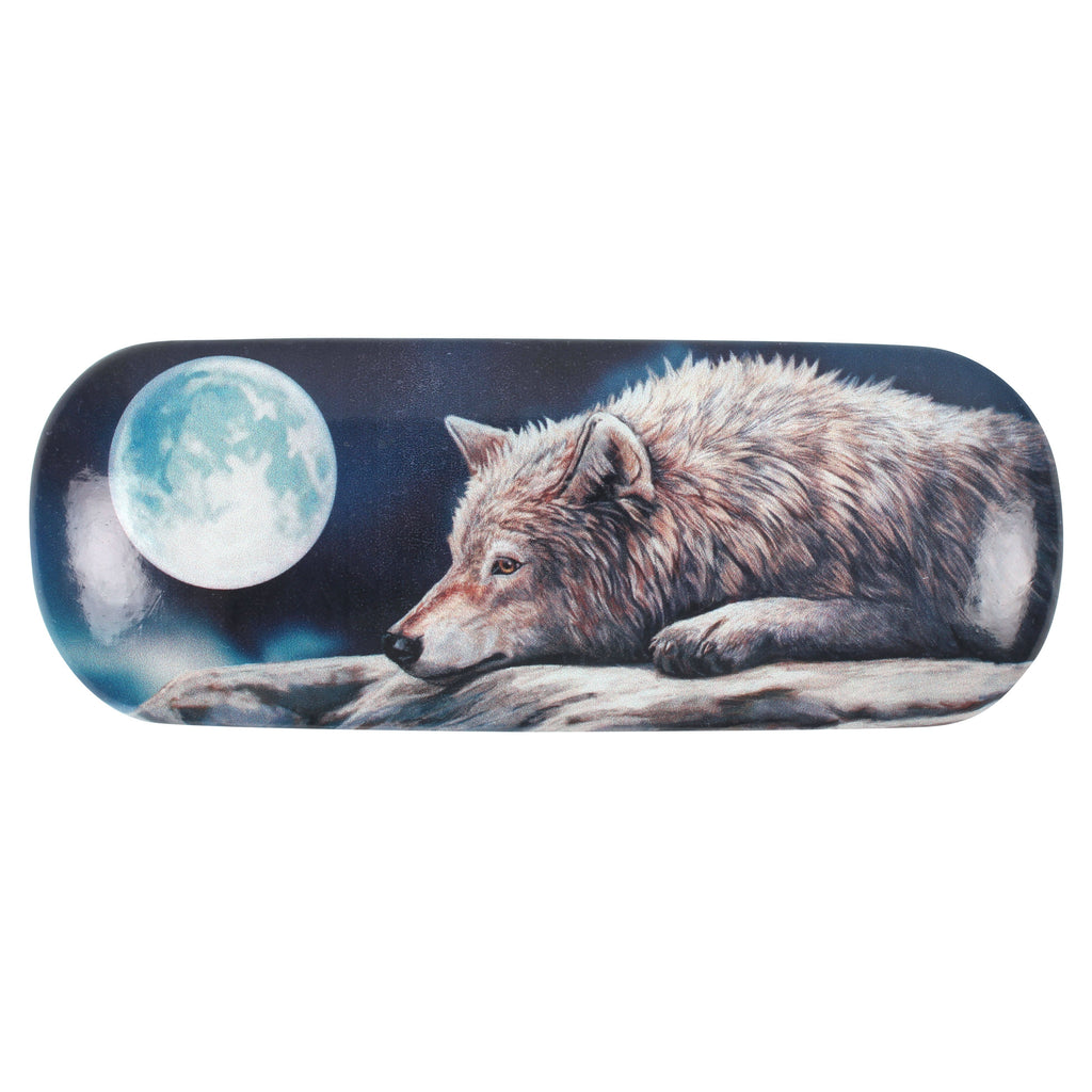LP035G-Quiet Reflections (Wolf) Eyeglass Case by Lisa Parker Eyeglass Cases at Enchanted Jewelry & Gifts