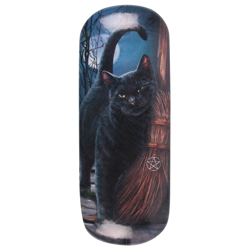 LP037G-Brush with Magic (Black Cat) Eyeglass Case by Lisa Parker (Eyeglass Cases) at Enchanted Jewelry & Gifts