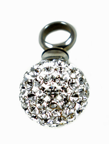 LV21-Rhinestone Ball Keepsake Love Vial-Love Vials-Enchanted Jewelry & Gifts