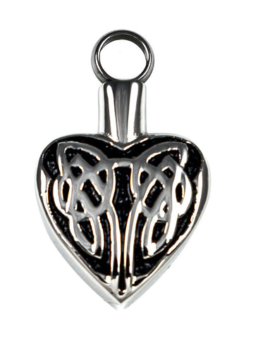 LV24-Celtic Heart Love Vial (Love Vials) at Enchanted Jewelry & Gifts