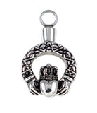 (Product Code: LV8) Claddagh Keepsake Love Vial, Love Vials - EnchantedJewelry - 1