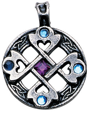 NLMA01-Celtic Cross Heart Pendant for True & Happy Friendship (Nordic Lights) at Enchanted Jewelry & Gifts
