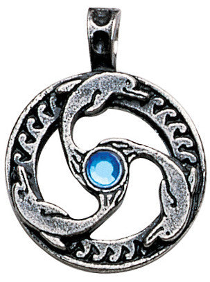 NLMA03 - Dolphin Triskilian Pendant for Guidance & Inner Peace (Nordic Lights) at Enchanted Jewelry & Gifts