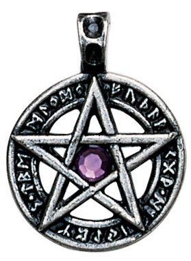 NLMA12-Runic Pentagram for Achievement of Desires (Nordic Lights) at Enchanted Jewelry & Gifts