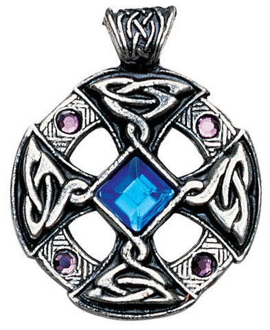 NLMD18-Celtic Cross Pendant for Inspiration and Intuition (Nordic Lights) at Enchanted Jewelry & Gifts