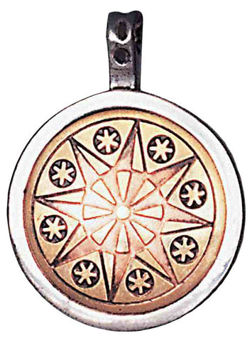 MT9-Earth-Star Flower Talisman for Serenity & Inner Strength (Magical Talismans) at Enchanted Jewelry & Gifts